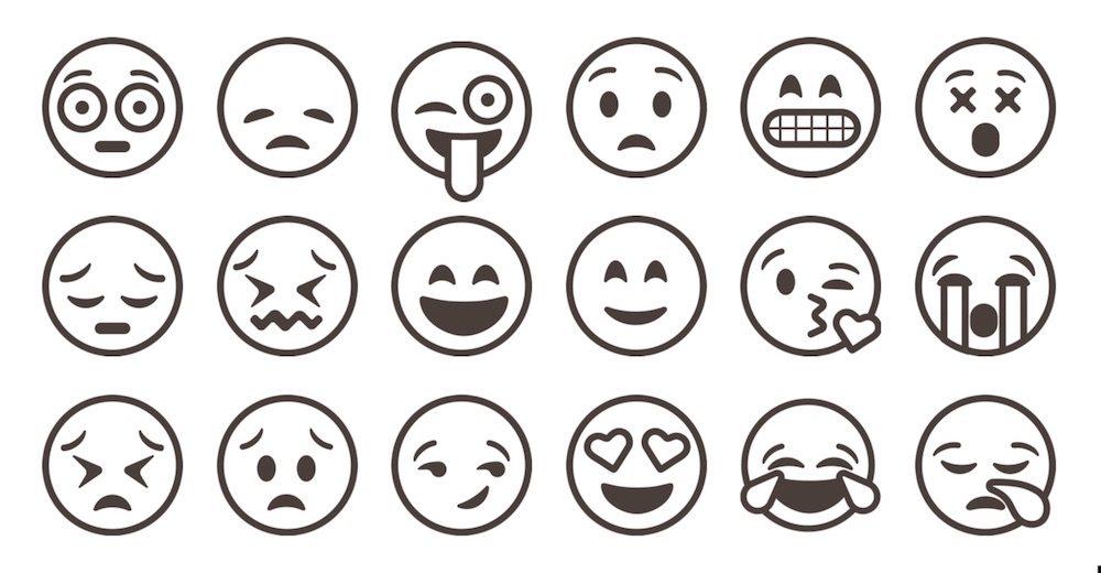 Zum ausdrucken smilies Emoticons Zum